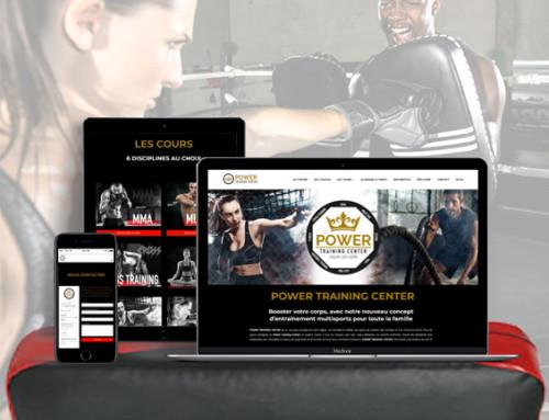 Power Training Center – Création site internet Chalon sur Saone