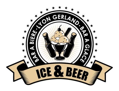Création logo Ice & Beer Lyon