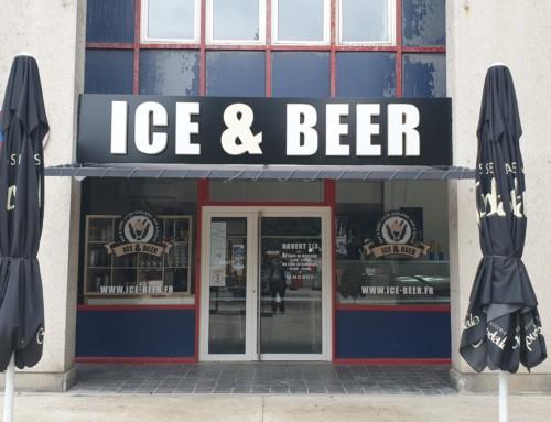 Création enseigne lumineuse Ice & Beer Lyon Gerland